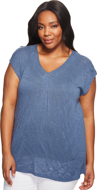 Bobeau Janet Front Pleat Plus Size Shirts