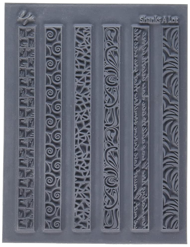 Great Create LP527-395 Lisa Pavelka Individual Texture Stamp, 4.25 by 5.5-Inch, Shanks a Lot, 1 Per Package