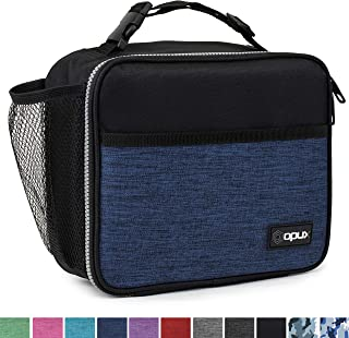 OPUX Premium Insulated Lunch Bag for Adults Men Women | Soft Leakproof Lunch Box for Kids, Boys, Girls| Reusable Durable Thermal Lunch Pail for School Work Office | Fit 6 Cans (Navy)