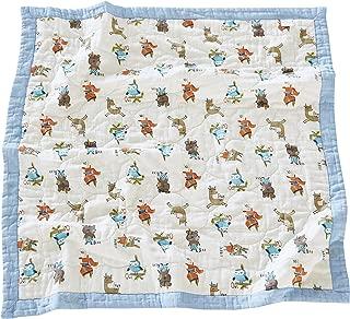 J-pinno Animals Rabbit Bear Fox Owl Baby Nursery Muslin Cotton Bed Quilt Blanket Crib Coverlet 43.5