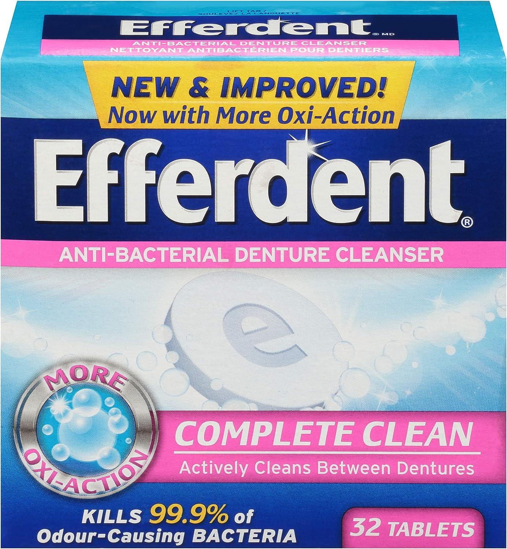 Efferdent Anti-Bacterial Denture 90 Sale price Tablets Cleanser Over item handling