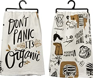 Primitives by Kathy Don't Panic It's Organic - Cotton Kitchen Towel - 28-in