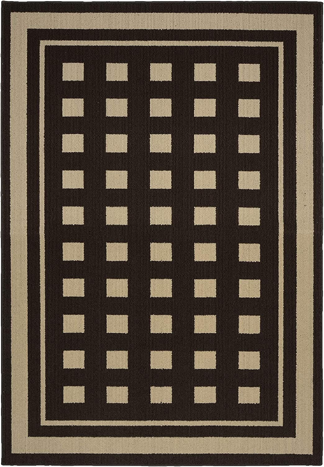 Garland Rug Manorville Jacksonville Mall Indoor Outdoor Area 5 Mocha 7-Foot Limited Special Price