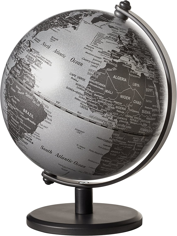 Emform Mini-Globus Gagarin Matt Silber, Metall & Kunststoff, 130 x 170 mm B074J7TCKM | Erste Kunden Eine Vollständige Palette Von Spezifikationen