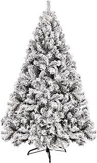 comprar comparacion YOUKE Artificial PVC Árbol de Navidad Blanco Tienda Comercial Decoración de Vacaciones Familiares Decoración navideña Simu...