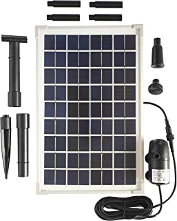 Solariver Solar Water Pump Kit - 160+GPH - Submersible Water Pump and 10 Watt Solar Panel for Sun Powered Fountain, Waterfall, Pond Aeration, Aquarium, Aquaculture (NO Battery Backup)