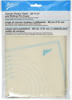 """Ateco 691 Canvas Pastry Cloth and Rolling Pin Cover, 25"""" x 20"""""""