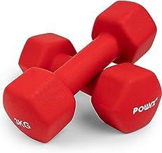 Hexagon neopreen dumbbell-set incl. training | Halters 0,5-10 kg | Haltergewichten met rubberen bekleding voor gymnastiek...
