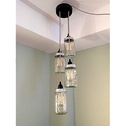 Hanging Mason Jar Lights Amazon Com
