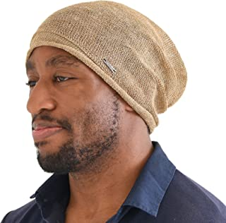 CHARM Hemp Beanie Hat Summer Cap - Mens Slouchy Beanie Womens Baggy Knit Cooling Hat