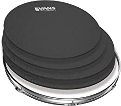 SoundOff by Evans Drum Mute Pak (4pc) – Provides 95% Volume Reduction Without Drastically Altering Drums' Feel – Quietly Practice Directly on Drum Sets – For Standard-Sized Kits 12, 13, 14 (Snare), 16