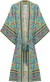 R.Vivimos Women's Floral Print Beach Swimwear Cover Up Dress Wrap