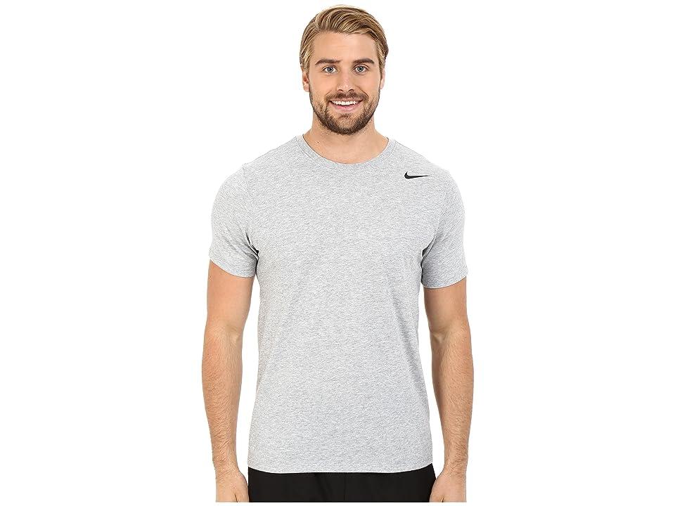 Nike Dri-FITtm Version 2.0 T-Shirt (Dark Grey Heather/Dark Grey Heather/Black) Men