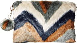 BSB3552 Chevron Faux Fur Clutch