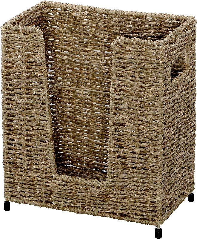 Hoffmaster BSK3050 Large Seagrass Basket 11 Height 5 75 Width 9 5 Length Light Brown