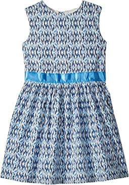 Toobydoo Blue and Aqua Garden Party Dress (Toddler/Little Kids/Big Kids)