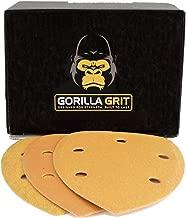 Gorilla Grit 60 PCS Mouse Sander Pads 5 Hole Hook and Loop for Detail Sanders 3 Grits Assortment 20PCS Each 80/120/220 Premium Abrasive Sandpaper Pads for Wood and Metal Surfaces