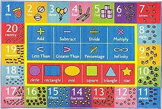 سجادة منطقة التعلم التعليمية للأطفال والأطفال وغرف النوم وغرف اللعب من كيه سي كبس, 90 x 120 centimeters