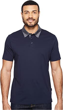 Perry Ellis - Pima Chambray Polo Shirt