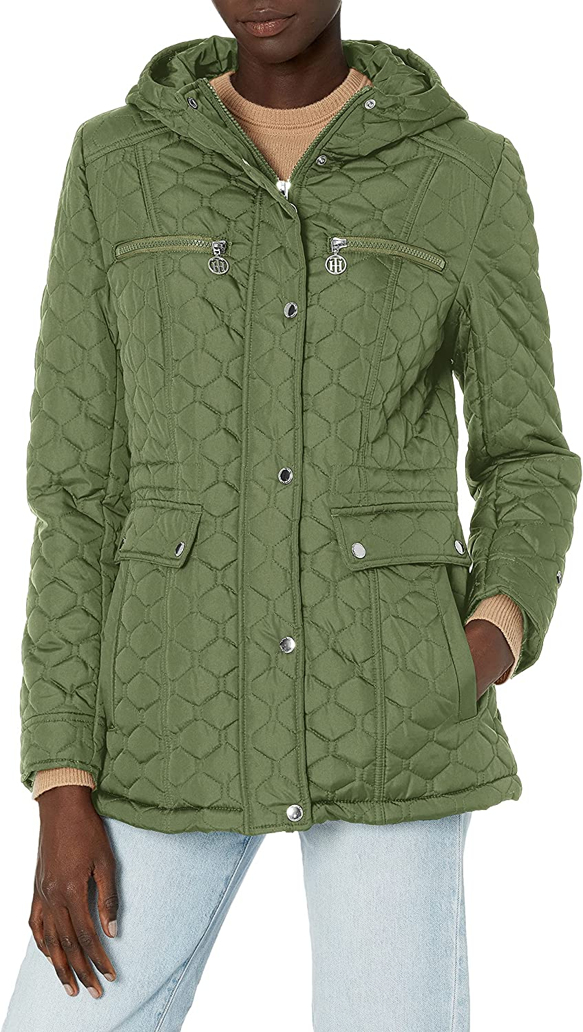 Tommy Hilfiger Women's Quilted Jacket Sales of SALE items from new works Classic Max 77% OFF