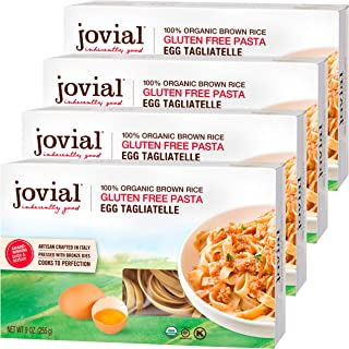 Jovial Egg Tagliatelle Gluten-Free Pasta | Whole Grain Brown Rice Egg Tagliatelle Pasta | Lower Carb | Kosh...