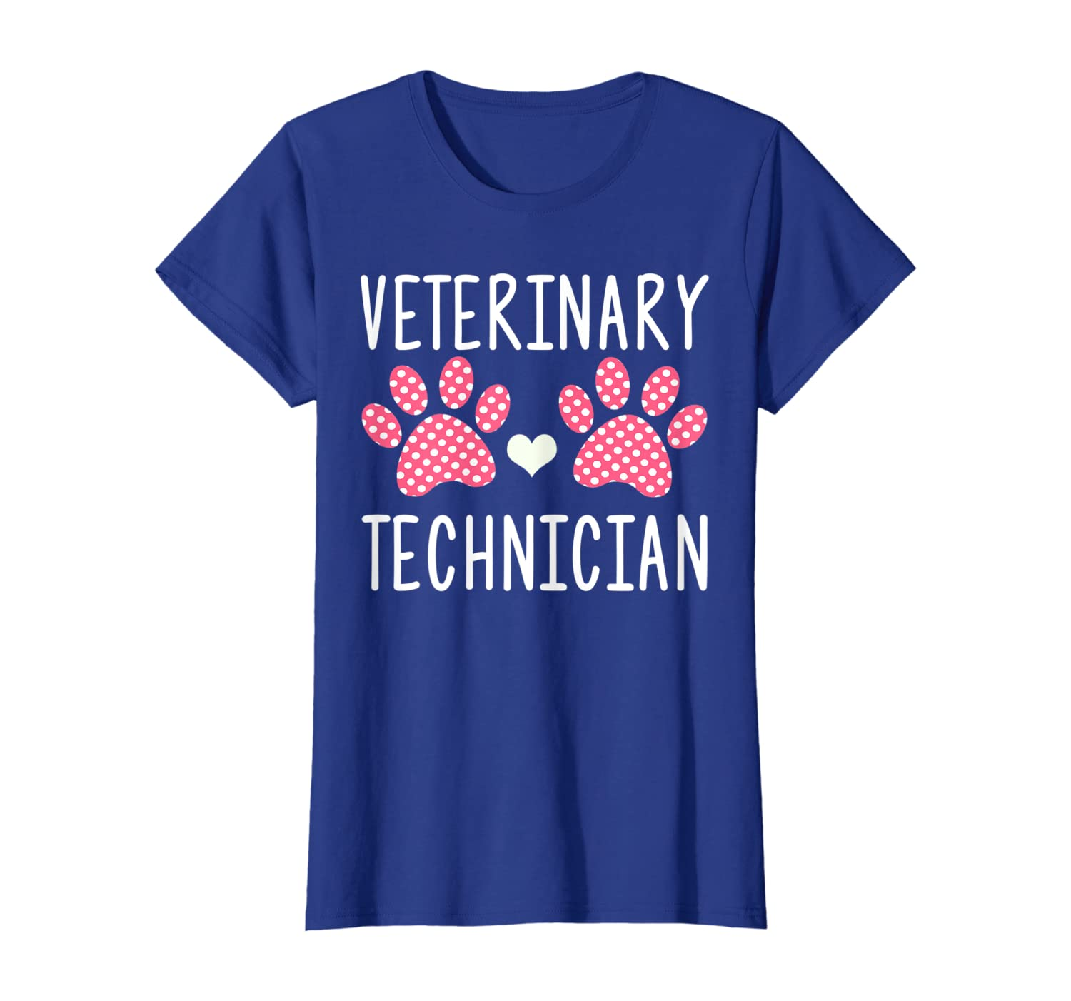 Cute paw print veterinary technician vet tech gift T-Shirt
