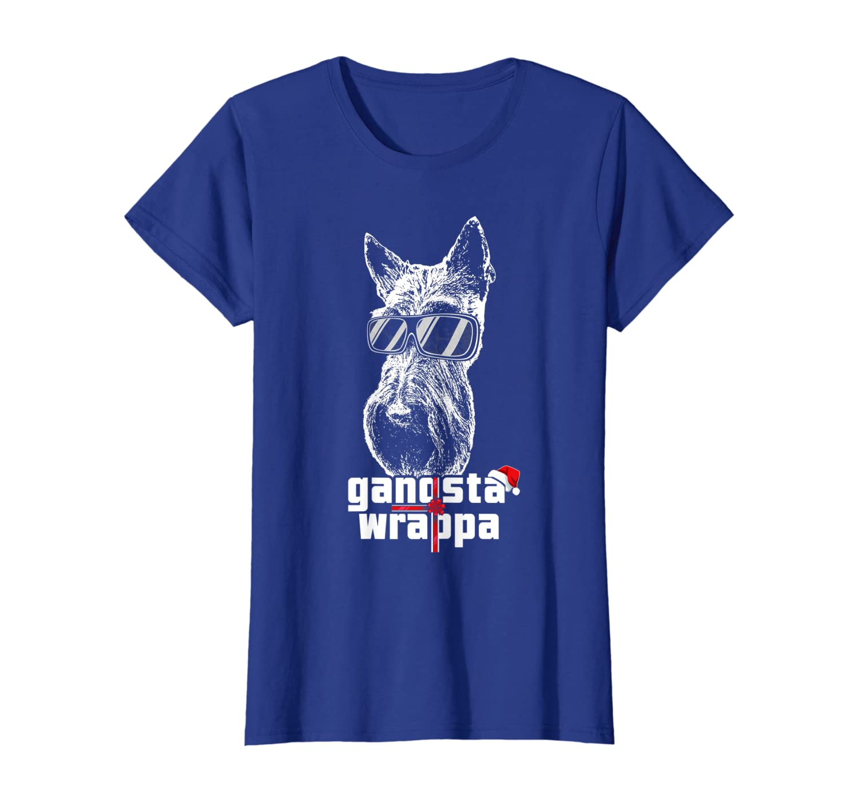 Scottish Terrier Gangsta Wrapper Funny Christmas T-Shirt