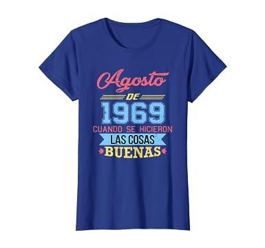 Amazon.com: Womens Camiseta 51 anos cumpleanos Agosto Mujer ...