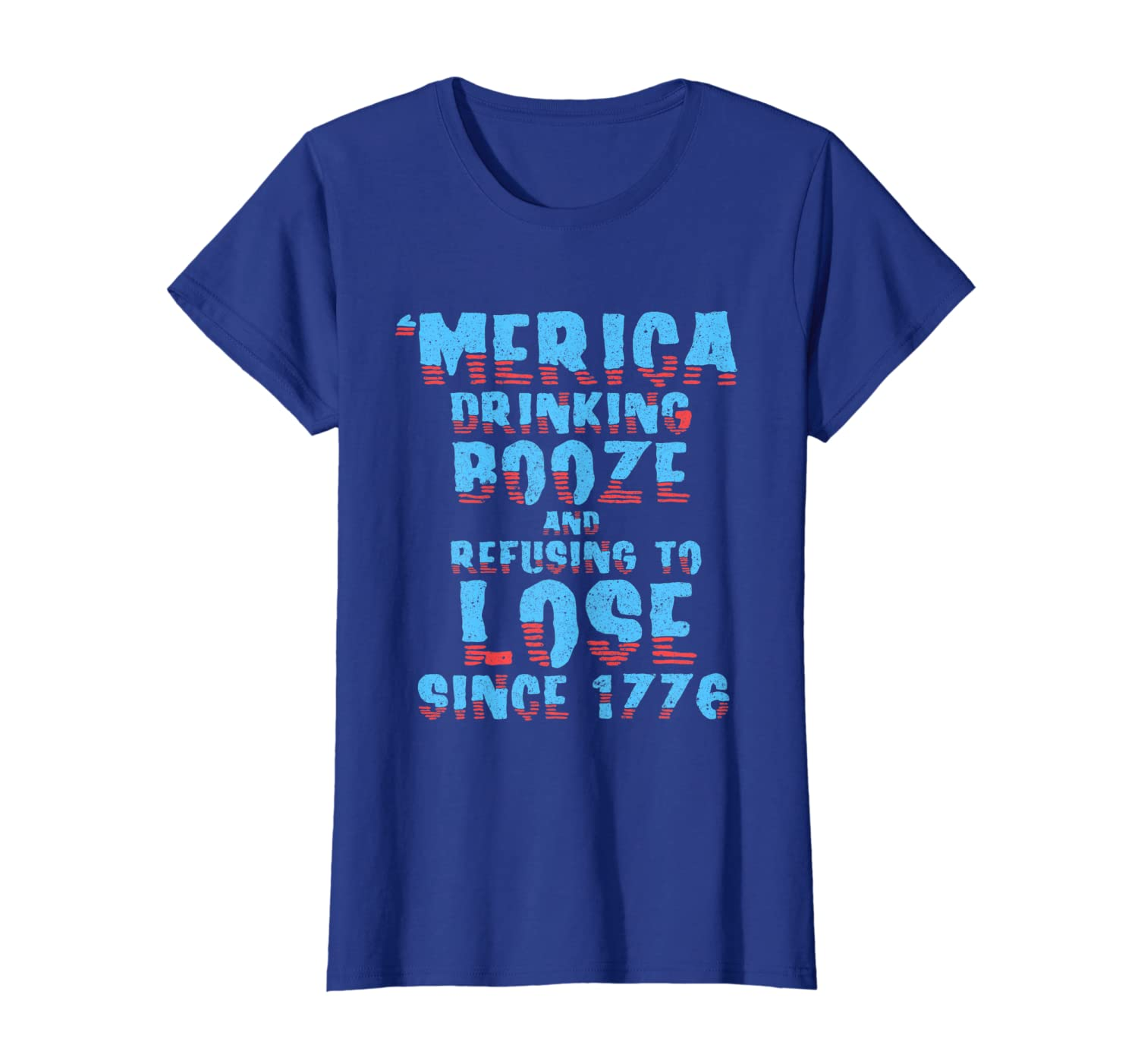Merica Drinking Booze 4th Of July Patriotic  T-Shirt-Yolotee