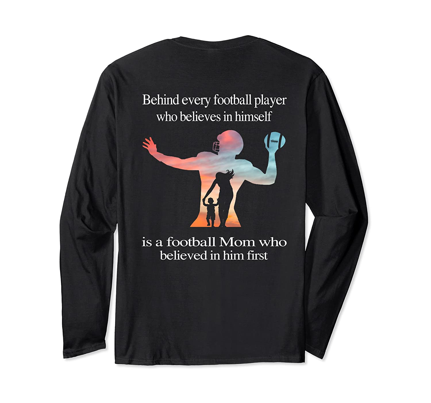 Behind Every Football Player - Family Mom Mother Gift T-shirt