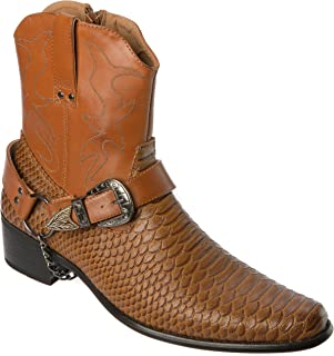 Alberto Fellini Western Style Boots New Upgrade PU-Leather Cowboy Dress Shoes