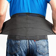 Best OMAX Lumbar Back Brace - Adjustable Trainer Straps for Lower Back Core Support Belt - Immediate Back Waist Pain Relief, Theraputic Sciatica Breathable Mesh Design Extra Compression for Men and Ladies Review