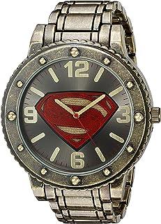 DC Comics 男士石英金属和合金休闲手表,颜色:金色调(型号:BVS8009)