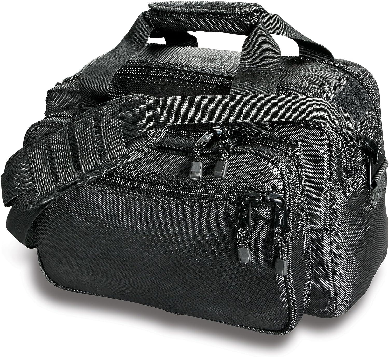 Uncle Mike's Law Enforcement SideArmor Deluxe Range Bag, Black