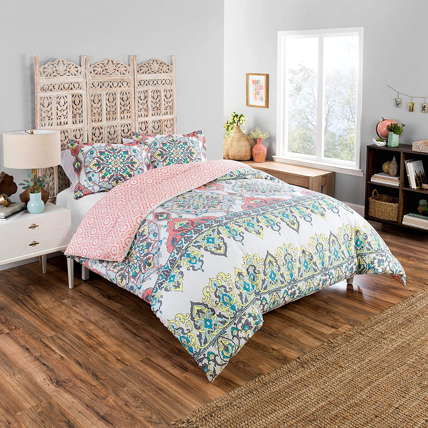 Boho Now free shipping Boutique Rozella Comforter Time sale with Blue 2 Shams King Pillow