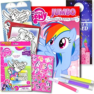 My Little Pony Colouring Book with Take-N-Play Set 96-page Pinkie Pie Colouring Book, My Little Pony Stickers, Markers, & ...