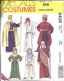8436 Uncut McCalls Sewing Pattern Childs Bible Costumes Christmas Angel King Small 6-8