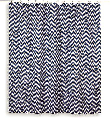 "Rizzy Home G00292 Shower Curtain, 72""X72"", Light Blue"