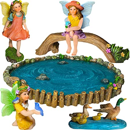 Terrarium Accessory Fairy World Fairy Garden Supply Fishing Fairy  #0003-MADD7WFG Garden Figurine Fairy Maddox Fairy Garden Miniature