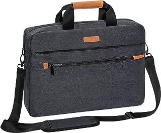 PEDEA Laptoptasche 'Elegance Pro' Notebook Tasche 17,3 Zoll (43,9 cm) Umhängetasche mit Schultergurt und Tablet PC Fach bis 11 Zoll (27,96 cm), Grau
