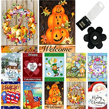 """New Welcome Mountain Country Theme Double Sided Garden Flag 12/"""" by 18/"""""""