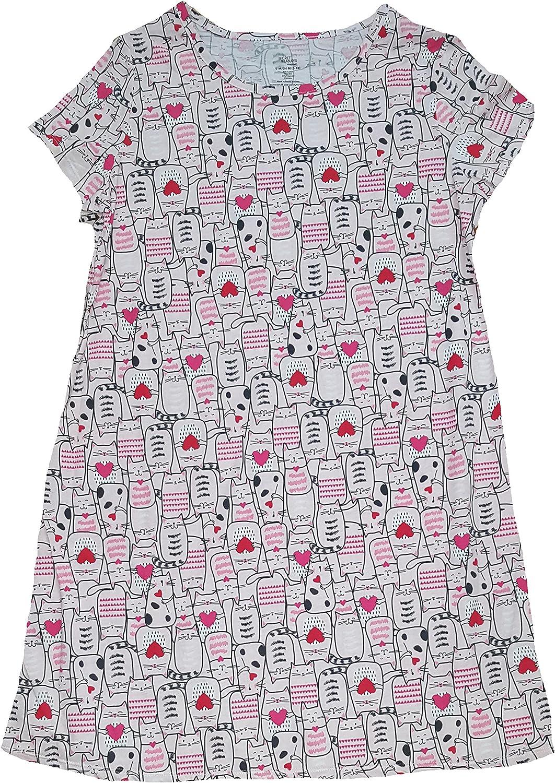 Secret Treasures Kitty Cats  Hearts Pink Nightgown Long Sleepsh