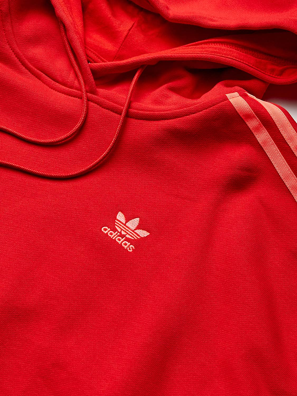 adidas Originals Cropped Hooded Sweatshirt Maillot de survêtement Femme Rouge Écarlate