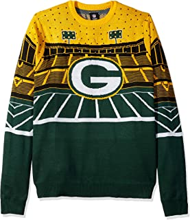 FOCO NFL Green Bay Packers Mens Light Up Bluetooth Speaker Sweaterlight Up Bluetooth Speaker Sweater