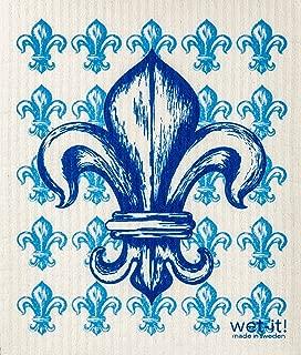 Swedish Treasures Wet-It! (Blue Fleur De Lis)
