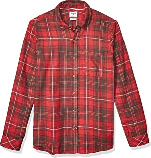 Men's Plaid Vedder Flannel Long Sleeve Button Up
