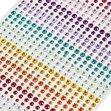 Brillantes Para Decorar Diamantes Autoadhesivas, 900 Piezas 3mm 4mm 5mm para Joyas para Cara Ojos Niños DIY Tarjetas de Artesanía Adorno Joya de Cristalino Decoraciones