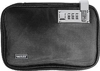 VaporVaultz Locking Plush Pouch, 1.5 x 8.5 x 6 Inches, Black (VZ00666)