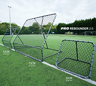 QuickPlay PRO Adjustable Angle Rebounder Range – Available in 3 Sizes | Soccer Rebounder or Baseball & Softball Pitch Back | Ideal for Team and Solo Training
