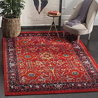 Safavieh Vintage Hamadan Collection VTH220C Oriental Antiqued Orange and Navy Area Rug (8' x 10')